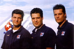 The Lares brothers: Jorge Koki Lares, Adalberto Beto Lares, and Guillermo Guille Lares, pilots for BTTR